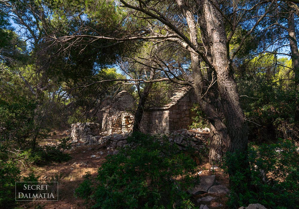 Ruins of Dragodid village on Island of Vis